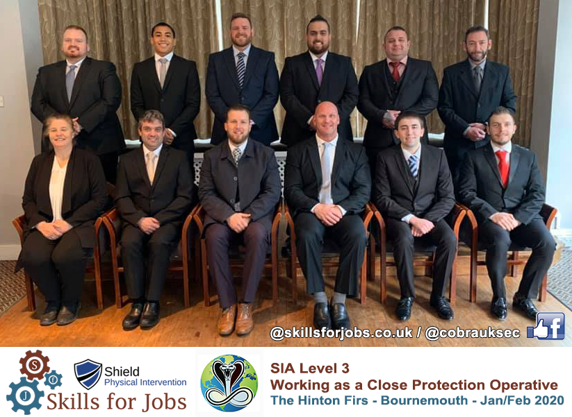 SIA L3 Close Protection Officer collaboration course Bournemouth 2020