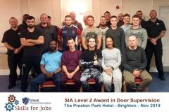 Brighton - SIA Level 2 Award in Door Supervision - November 2019