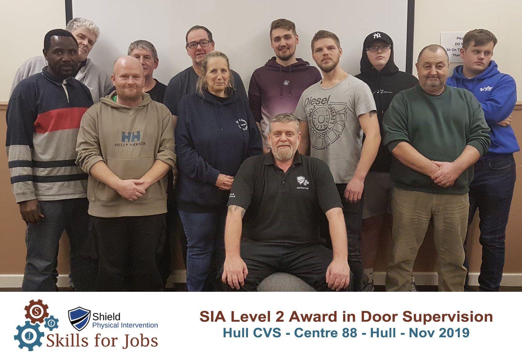 Hull - SIA Level 2 Award for Door Supervisors - November 2019