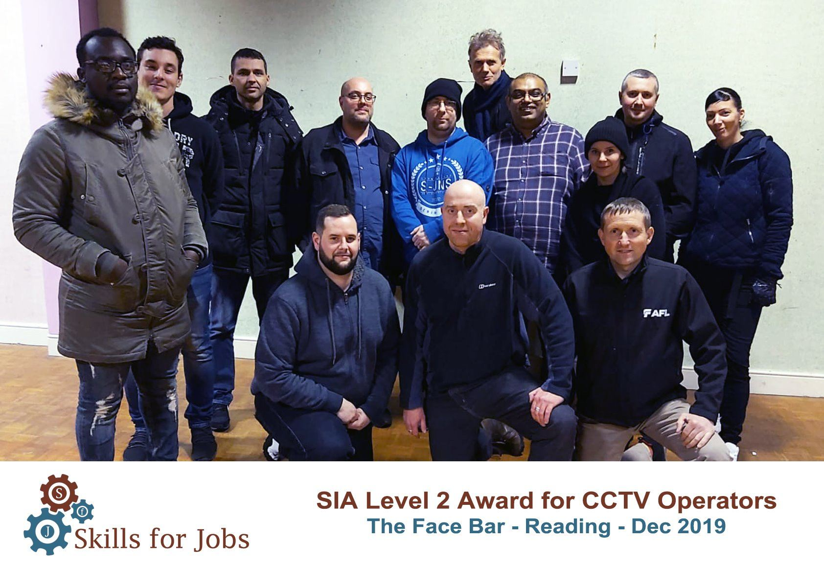 Reading - SIA Level 2 Award for CCTV Operators - December 2019