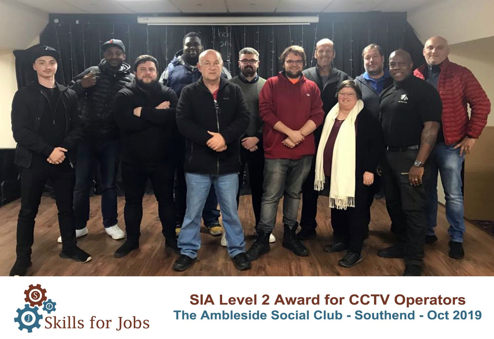 Southend - SIA Level 2 Award for CCTV Operators - October 2019