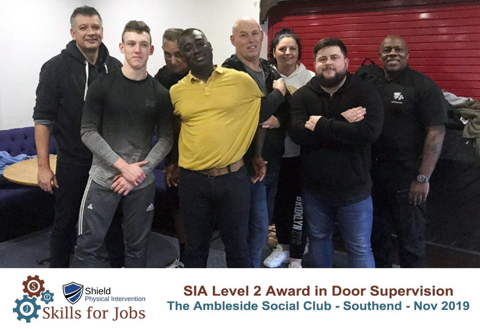 Southend - SIA Level 2 Award in Door Supervision - November 2019