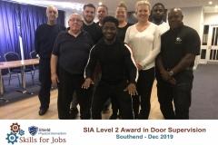 Level 2 Door Supervisor Course in Southend, December 2019