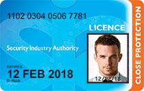 SIA Close Protection License